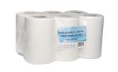 (P) Papírové ručníky v roli ALFA TOP pr.130, 6 rolí, 75 m, celulóza, 2 vrstvy, bílé