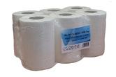 (P) Papírové ručníky v roli, 6 rolí, 150 m, celulóza, 1 vrstva, bílé