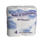Toaletní papír SOFT & EXCLUSIVE aroma, 80 rolí, celulóza, 2 vrstvy, 180 útr., bílý