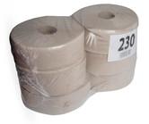 Toaletní papír pr.230, Standard, 6 rolí, recykl, 1 vrstva, šedý