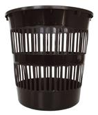 Koš děrovaný plastový na papír 9,3l, černý