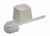 (P) WC štětka s hranatou miskou  plast, bílá